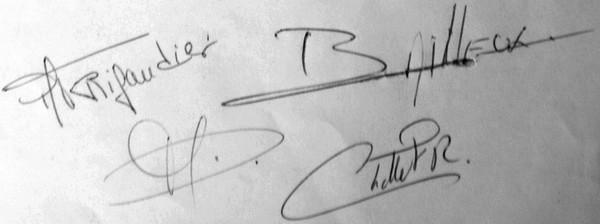 Signatures Statuts de 1994